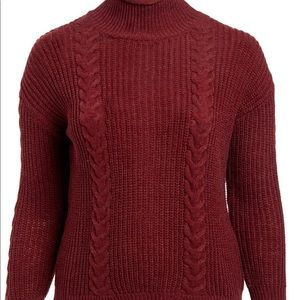 Cable knit button back sweater (2X)